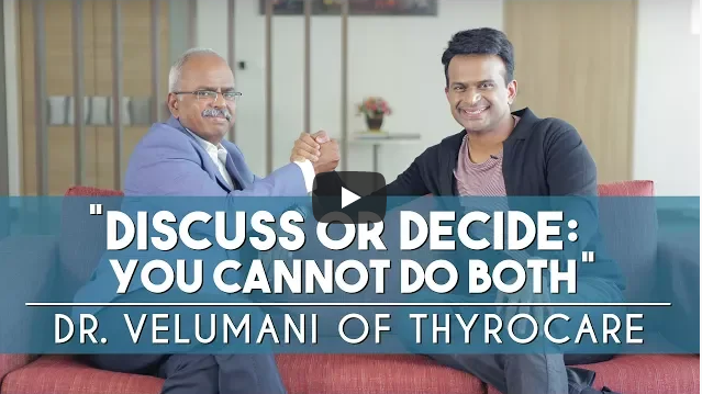 Discuss or Decide: you cannot do both - Dr. A Velumani